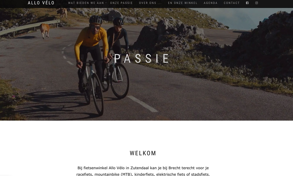 Allo velo website groot iKREATIV